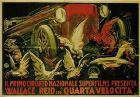 Italian car film advertisment poster